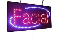 顔のサイン、スーパーブライト高品質LEDオープンサイン、ストアサイン、ビジネスサイン、ウィンドウサイン