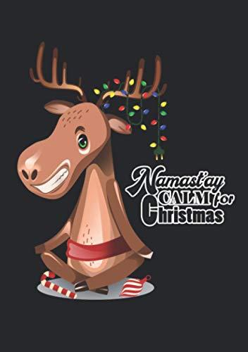Notizbuch A5 liniert mit Softcover Design: Namaste Namastay Calm for Christmas- Ruhige Weihnachten: 120 linierte DIN A5 Seiten