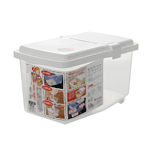 DIAOD 5kg Rice Storage Box Grain Cereal Dispenser Flip Lid Food Organizer Container Kitchen Storage Sealed Rice Bucket Insect Proof