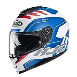 Casco moto HJC C70 KORO MC21SF, Bianco/Blu/Rosso, M
