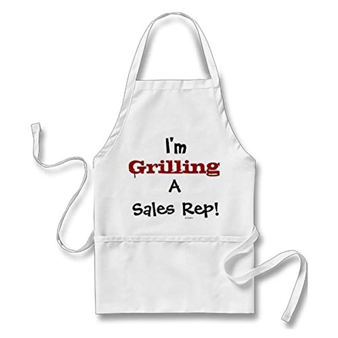 Grilling A Sales Rep Cruel Doctor Joke Long Apron for Men Women with Pockets