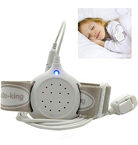 JIN Potty Training Bedwetting Enuresis Alarm with Loud Sounds, Bright Lights and Strong Vibrations for Deep Sleepers,B