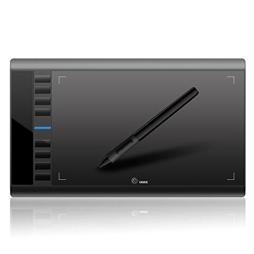 """AEDU Usb-Grafiktablett Zeichentablett Stifttablett 10 X 6\"""" Digitalisiertablett Mit Stift Und 8 Schnellzugriffstasten Zum Digitalen Malen & Zeichnen (5080 Lpi 230 Rps 2048 S"""