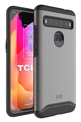 TUDIA Merge Diseñado para la Carcasa TCL 10L, Resistente y Delgada Funda Protectora de Doble Capa para teléfono TCL 10L (Pizarra metálica)
