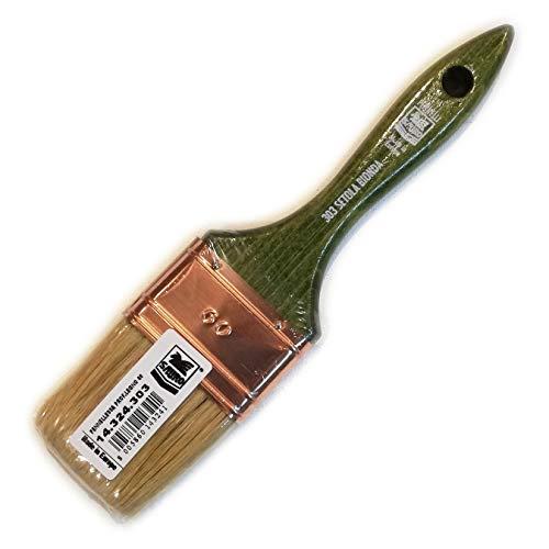 Saratoga Sauro serie 303 50mm pennello professionale manico legno per smalto impregnante pittura acqua solvente