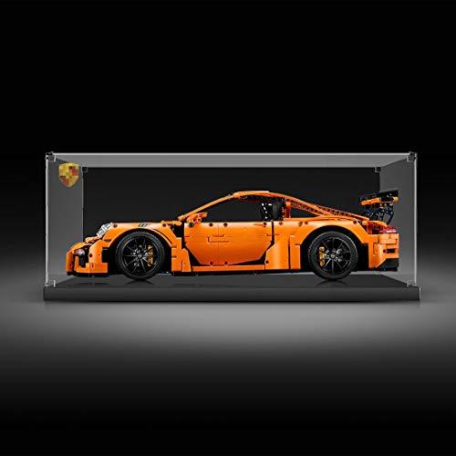 MAJOZ Vitrina acrílica para Lego Technic 42056 – Porsche 911 GT3 RS (no incluye modelo Lego).