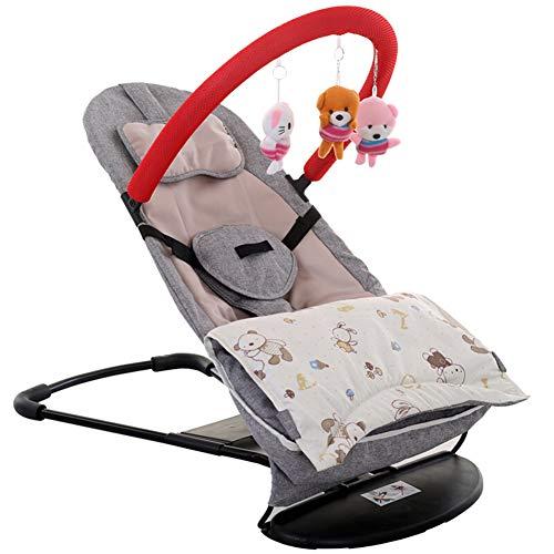 LYXCM Silla de Columpio para bebé, balancín Plegable Ajustable de Tres Engranajes...