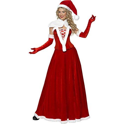 NET TOYS Miss Santa Kostüm Weihnachtsfrau Kleid L 44/46 Weihnachtskleid Weihnachtsfraukostüm Damenkostüm Weihnachtskostüm Frau