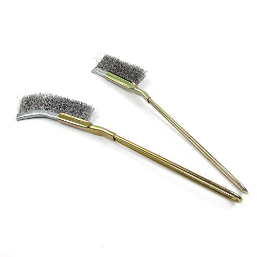 Alfie Pet - Malaka Mini Wire 2-Piece Set Brush for Bird Cage Cleaning