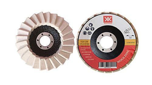 2 Discos para Pulir KESTKAS 115mm Metal,Acero INOXidable,Aluminio,Cromado,Cobre,...