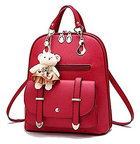 Mochila de cuero de las señoras lindas Mini mochila Casual Bolsa de la escuela a prueba de agua Mochila de viaje Pequeño bolso para las niñas adolescentes y las mujeres para la escuela College Viajes