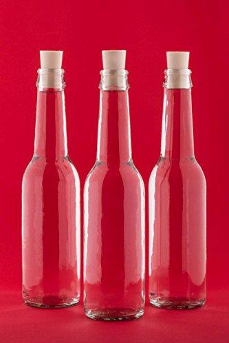 casavetro 12 Stück Glasflaschen 275 ml Antik-SPI Korken Saftflaschen Kleine Weinflaschen Flaschen Zum Selbst Abfüllen Likörflaschen Schnapsflaschen Essig-Öl