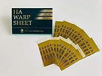 [HAワープシート] HA WARP SHEET ながらコスメ ヒアルロン酸 100% ジェル 高密着 高保湿 乾燥 シワ対策 10枚 (切り離し20枚)