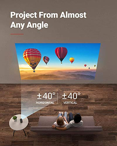 Anker Nebula Capsule Max, Pint-Sized Wi-Fi Mini Projector, 200 ANSI Lumen Portable Projector, Native 720p HD, 8W Speaker, Movie Projector, 100 Inch Picture, 4-Hour Video Playtime, Home Entertainment