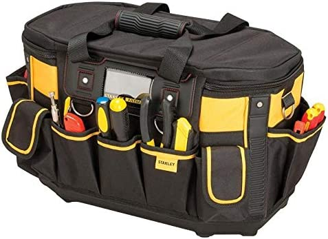 STANLEY FATMAX Round Top Rigid Tool Bag, Multifunctional Tool Storage Organiser, FMST1-70749