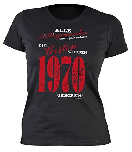 Sexy Damen T-Shirt exklusiv zum 50. Geburtstag 50 Geburtstag Frau Schwester 50 Jahre Lieblingsmenschen - die Besten wurden 1969 geboren, Schwarz, XXL