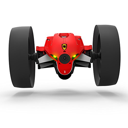 Parrot Mini Drone Jumping Race Wide-angle Camera and Microphone Speaker with a Two-wheeled Robot Max (Red) [Japan Genuine]