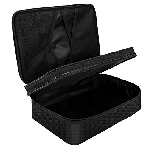 Fire Resistant Bag Briefcase Style Waterproof Document Bag Filing Folder Zip Closure Multi-Layer File Storage Box For Home Office Travel File Organizer
