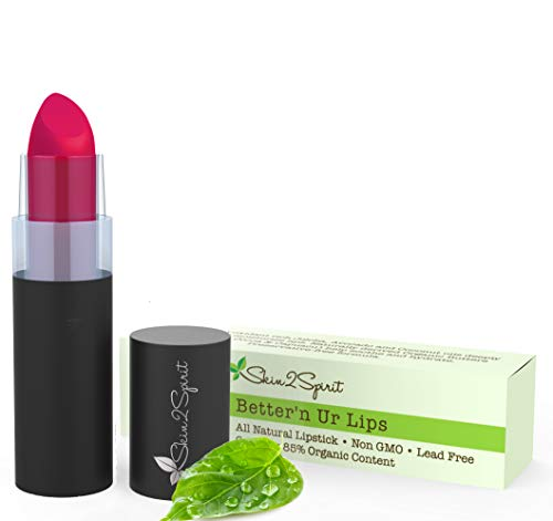 Better'n Ur Lips Vegan Lipstick (BERRY RED 2.0) | 100% Natural | Organic | Gluten Free | Cruelty Free | Vegan | Lead Free | Paraben Free | Petroleum Free | Healthy Color that's Good for your Lips!