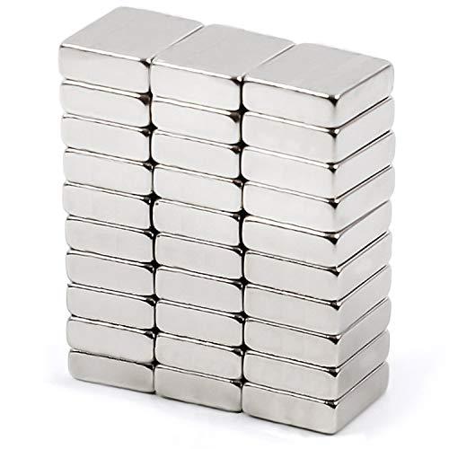 Hochwertige 30 Neodym Magnete Klein 10 x 10 x 3 mm Stark