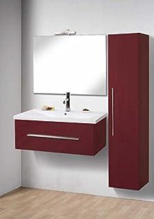 f25a886fa2 Mobile Arredo Bagno cm 80 sospeso moderno varie colorazioni (anche bianco)  con un cassetto