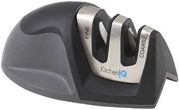 KitchenIQ 50009 Edge Grip 2-Stage Knife Sharpener, Black