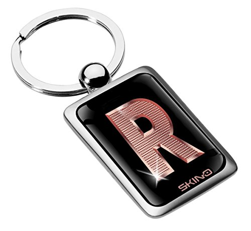Biomar Labs® Metal Alphabet A-Z Personalised Initials Keyring Keychain...