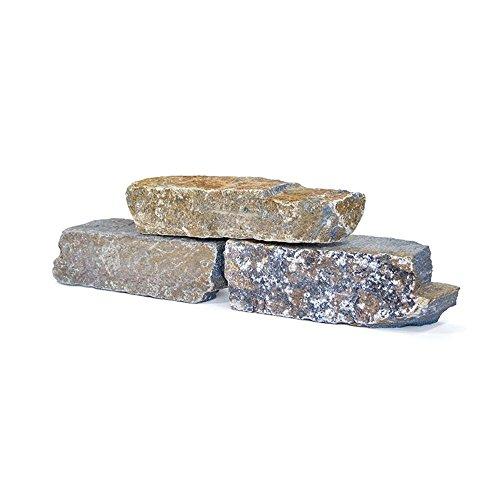 Mauersteine Quarzit, ± 15-40cm, 1000KG Holzkiste Big Bag