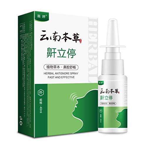 PanDaDa Nasenspray 40 ml Kräuter Nasenspray gegen Schnarchen, reine Pflanzenessenz zur Verbesserung der Schlafnasen Dilatatoren Apnoe Sleep Aid Lasting
