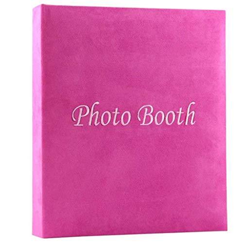 WJSWX Memory-Fotoalbum, Home-Album mit pinkfarbener Innenseite, handgefertigte DIY Paste-Fotosammlung, 25 Seiten, Tourismusliebe, Pflaumenrot
