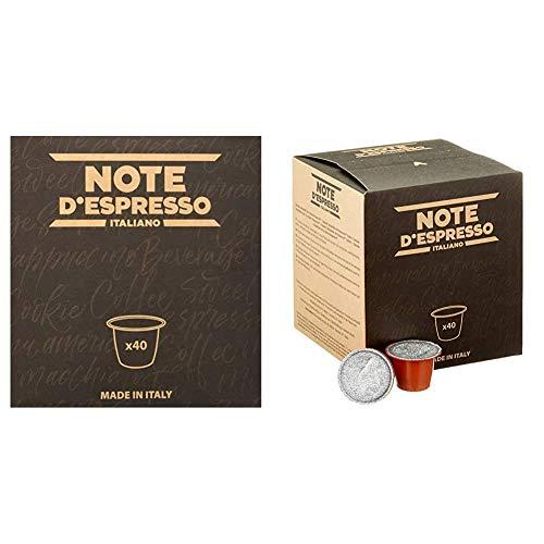 Note D'Espresso - Cápsulas de tisana de frutas del bosque exclusivamente compatibles con cafeteras Nespresso + Cápsulas de manzanilla con miel y naranja, 6g (caja de 40 unidades)