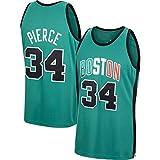 WSWZ Camiseta De Baloncesto De La NBA - Boston Celtics 34# Paul Pierce Camisetas De La NBA para Hombre - Unisex Cómodo Camiseta Sin Mangas Deportiva De Baloncesto,XL(180~185CM/85~95KG)