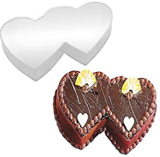 Double Heart Shaped Cake Pan Birthday Novelty Baking Themed Cake Tin