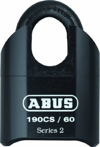 ABUS 190CS/60 High Security Solid Steel Combination Padlock - Closed Shackle