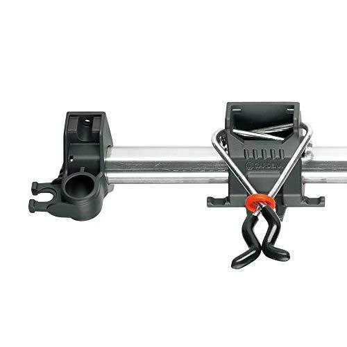 Gardena 3501-20 Halter für Combisystem Vorsatzgeräte; Zusätzliche Haken; Aluminium Leiste; Glasfaserverstärkte Kunststoff Halter; Stahlbügel Verzinkt (Belastbar: 10 kg Gesamtlast pro Einzelhalter) - 3