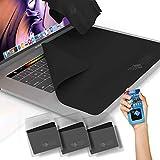 """CLEAN SCREEN WIZARD Paños de Microfibra Limpiador y Protector de Pantalla y Teclados, Incluye Pegantina Limpiador de Pantallas Portátiles, Ideal para MacBook Pro 13""""- 4 Piezas"""