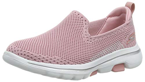 Skechers Damen Go Walk 5 Slip On Sneaker, Pink (Light Pink Ltpk), 36 EU