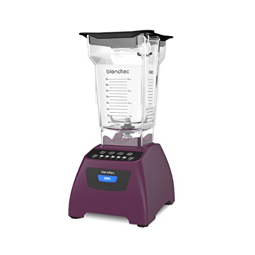 Blendtec Classic 575 Blender - FourSide Jar (75 oz) - Professional-Grade Power - Self-Cleaning - 4 Pre-programmed Cycles - 5-Speeds - Orchid Purple