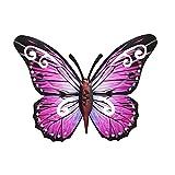 YHIIen Metall Schmetterling Wand Kunst Metall Schmetterlinge Wand Dekoration Lebhafter Schmetterling Wandgemälde für DIY Party Büro Zuhause und Raum Dekoration