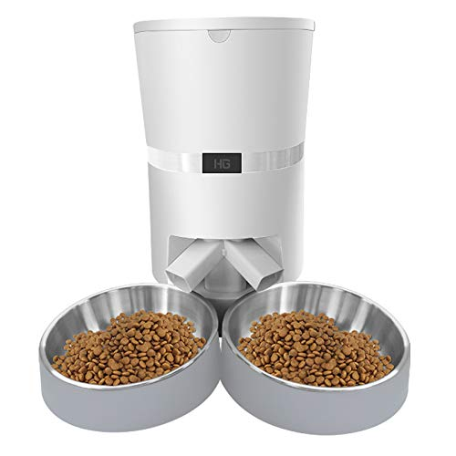HoneyGuaridan A36 Automatic Pet Feeder Two-Way Splitter Adapter, Help You Feed Two Pets in The Same Time