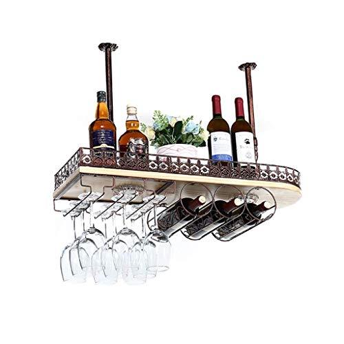 WSJ – Estante para copas de vino tinto – Estante para copas de vino – Barca de cerveza invertida – Madera maciza – Estante para el hogar – Estante para colgar adornos