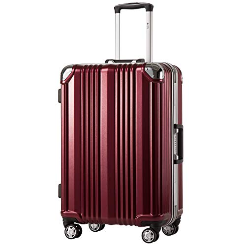 COOLIFE - Hard shell fashion case • Aluminium frame • Polycarbonate material • Travel luggage travel trolley trolley • With TSA lock and 4 double wheels that can be rotated 360°.