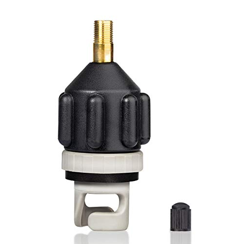Overmont Inflatable Boat SUP Air Pump Adaptor Standard Schrader Conventional Air Valve Adapter