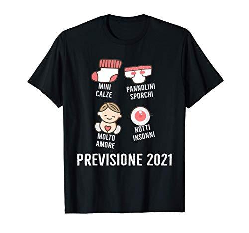 FUTURA MAMMA FUTURO PAPÀ REGALO PREVISIONE 2021 Maglietta