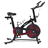 Bicicletas Estáticas de Spinning Ajustables Bicicleta Fitness Pantalla LCD, Bicicleta de Ejercicios...