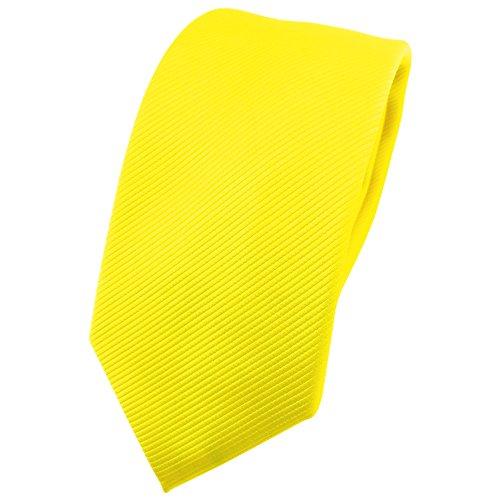 TigerTie - corbata estrecha - amarillo en flor amarilla amarillo neón monocromo Rips
