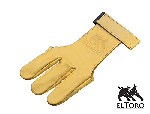 elToro Traditioneller Schießhandschuh Tradition - gelb (XL)
