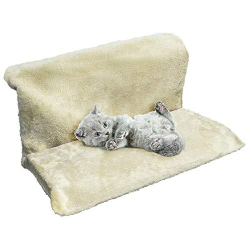Oramics Katzenhängematte Katzenbett – Hängematte für Katzen 46 x 31 cm – Heizkörperliege zum Einhängen in der Heizung – Katzenliege, Katzenhöhe ohne aufwendige Montage