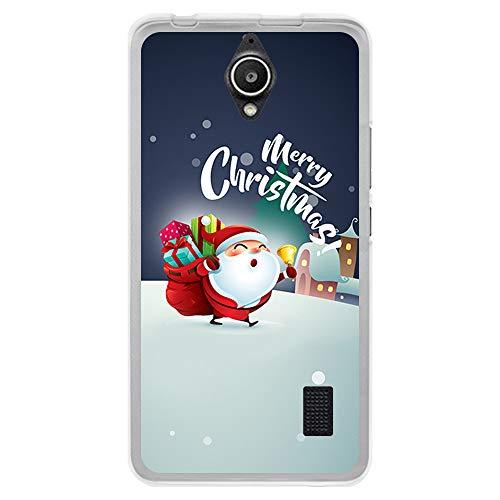 BJJ SHOP Funda Transparente para [ Huawei Y635 ], Carcasa de Silicona Flexible TPU, diseño : Papa Noel repartiendo Regalos