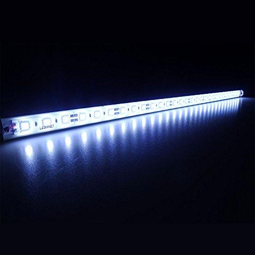 """LEDENET 20"""" 6500K-7000K White Super Bright 30LEDs 5050 Aquarium LED Strip for Fish Tanks - Waterproof Aluminum Lights 12V DC LED Linear Lighting(Cold White, 20"""" Long)"""